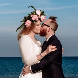 romantyczne zdjęcia nad morzem