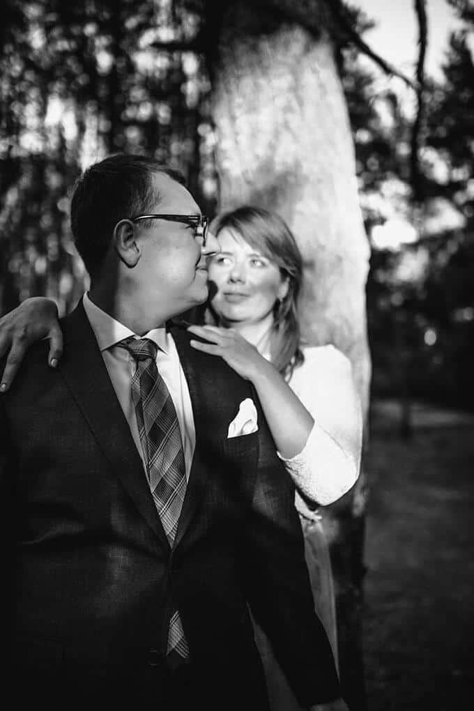 Weronika Bolek Fotograf ślubny, portret ślubny, fotografia czarno biała