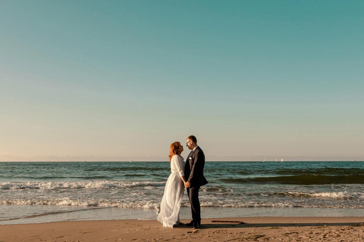 Weronika Bolek Fotograf, plener nad morzem, ślub trójmiasto